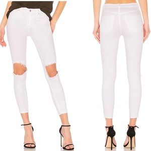 NWT Free People High Rise Busted White Skinny Jean